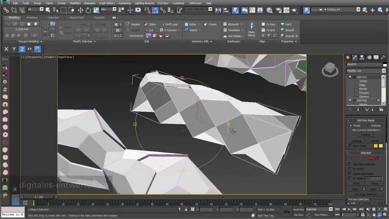 Folding 03 Folding Based On 3d Objects In 3ds Max Goruntuler Ile