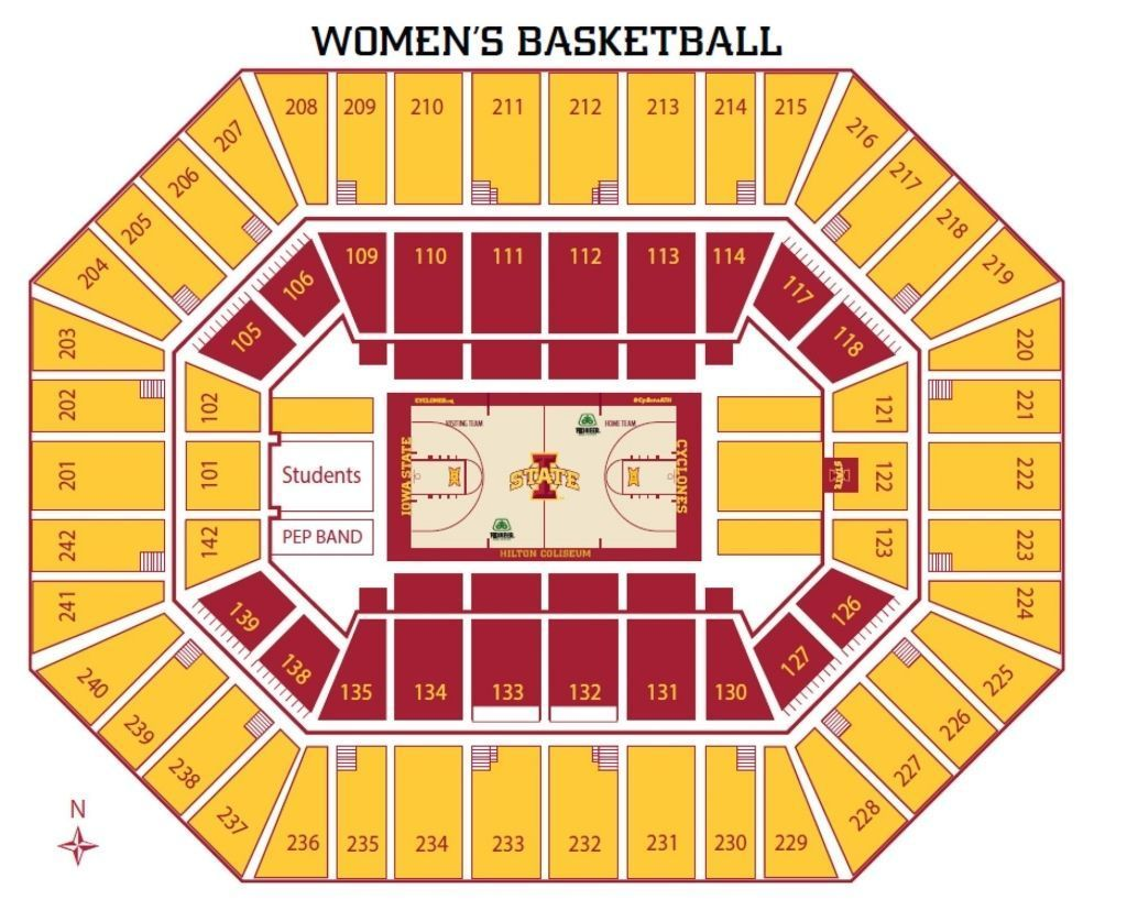 The Stylish And Also Beautiful Hilton Coliseum Seating Chart Iowastateuniversity Priority Seating Iowa State University Athletics With Regard To Hilton Coliseu In 2020 Iowa State University Iowa State Football Iowa State