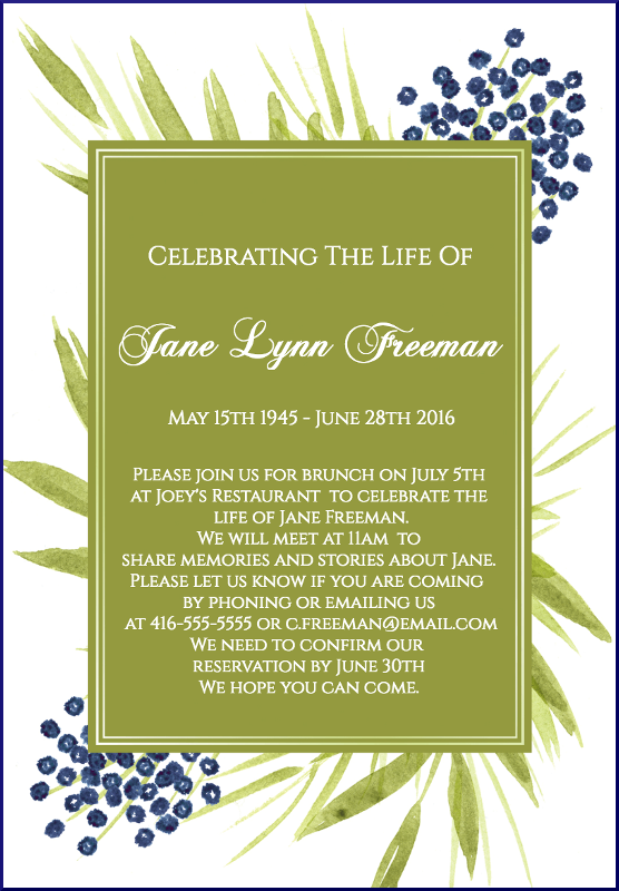 39 best funeral reception invitations reception invitations and sample funeral reception invitation wording on a greetings island design click through for copy and paste able wording loveliveson stopboris