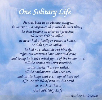 Image result for one solitary life