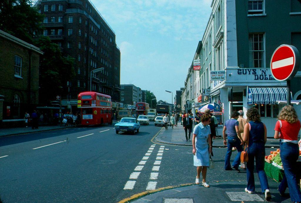 Kings Road Corner Of Lincoln Street Lo Ng West 1976