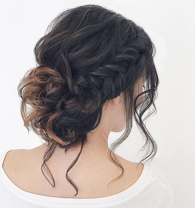 Messy Braids , updo hairstyles, wedding hair,twisted updo hairstyle #hairstyle #hairstyles #updo