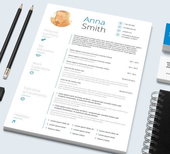 Resume Template and Cover letter \/\/ Microsoft Word template - microsoft word template resume