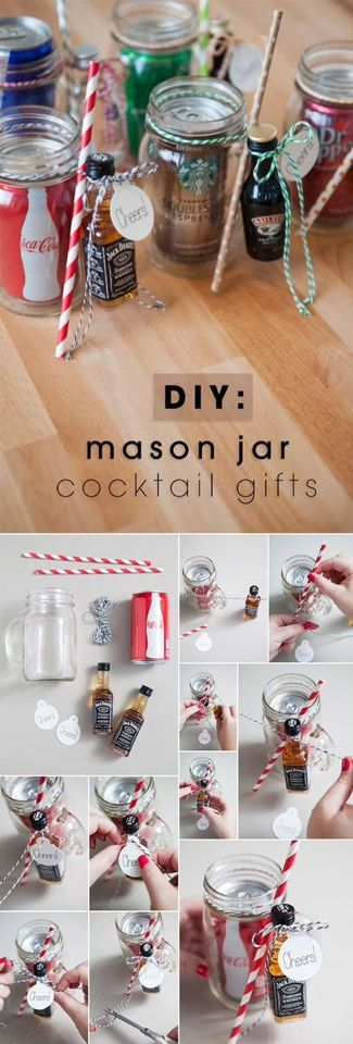 Awesome Christmas Craft Gift Ideas Pinterest Part - 7: Cocktail Gifts