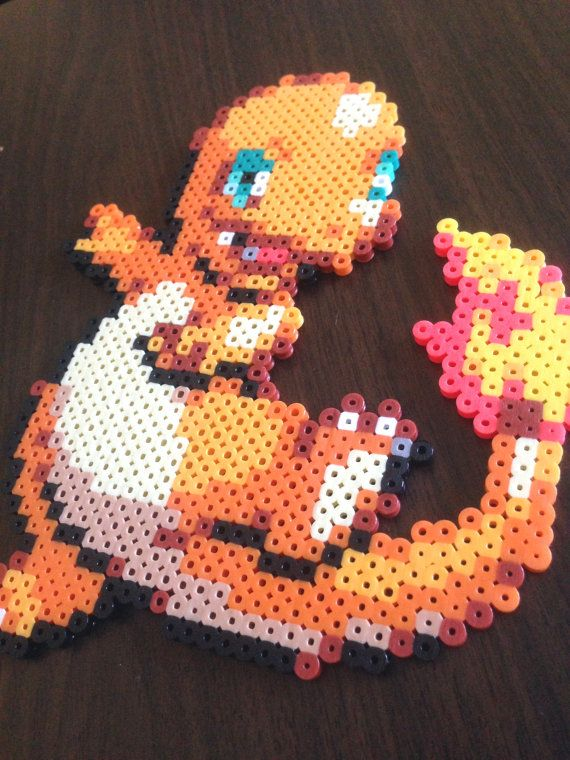 Charmander Perler Sprite, Pokemon Pixel Art   Pixel art, Sprite, Perler
