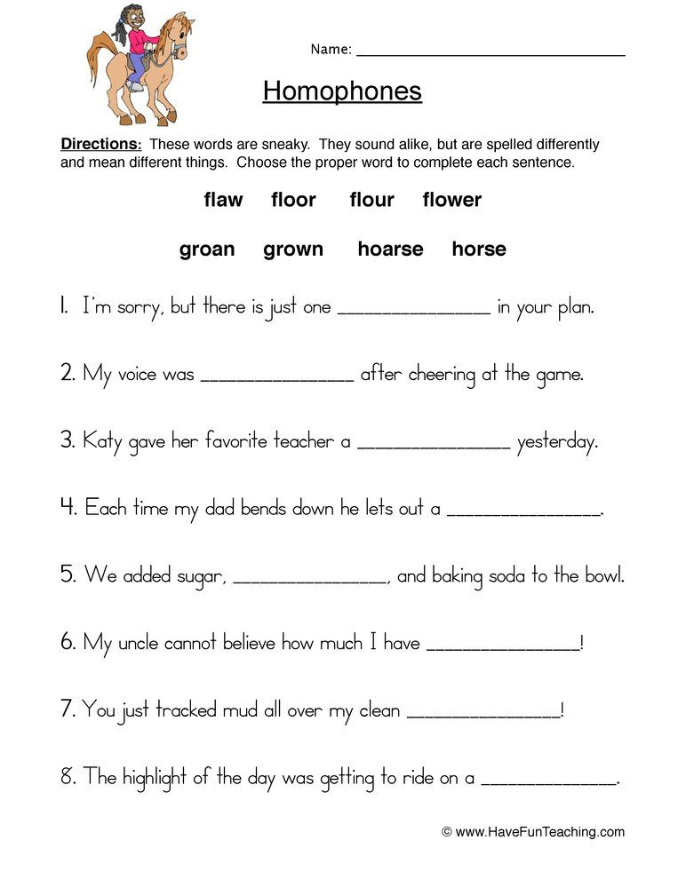 Completing Sentences With Homophones Worksheet Homophones Worksheets Homophones Reading Comprehension Worksheets