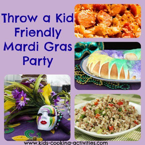 Mardi Gras Theme Party #louisianafood