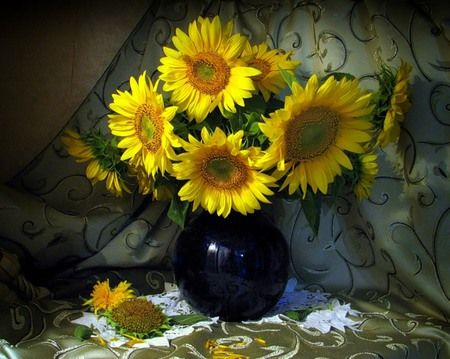 Still Life Desktop Nexus Wallpapers Flower Painting Still Life Flowers Sunflower Art