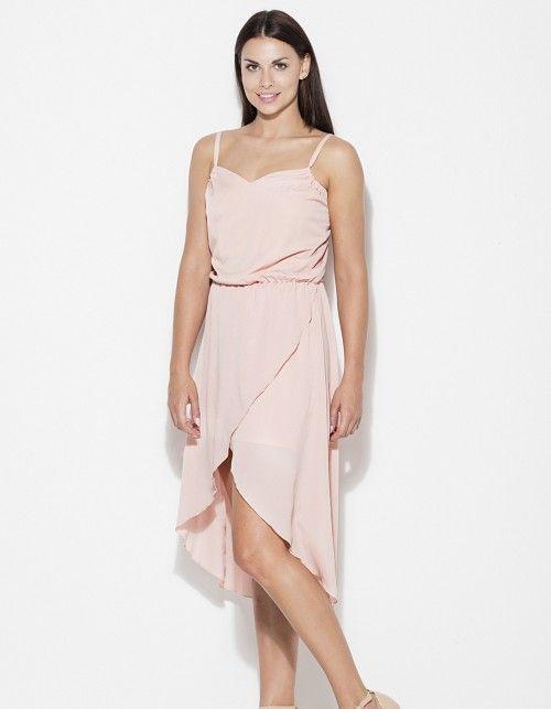 Sukienka asymetryczna na ramiączkach k395 | Kleid hochzeit ...