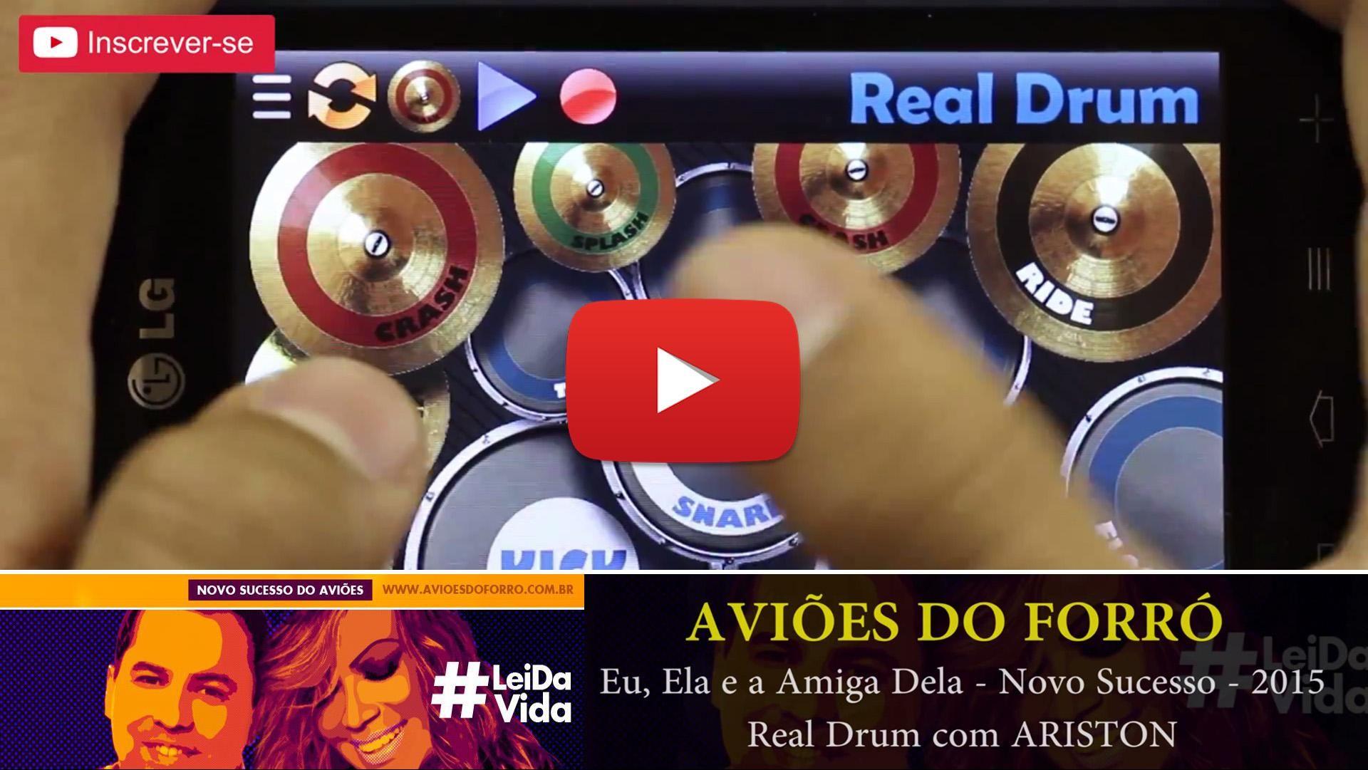 Real Drum, Aviões do forró, Eu, Ela e a Amiga Dela - Novo Sucesso - 2015