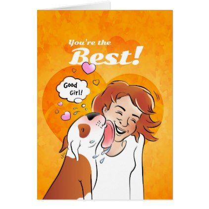 Bull Terrier Cartoon Card