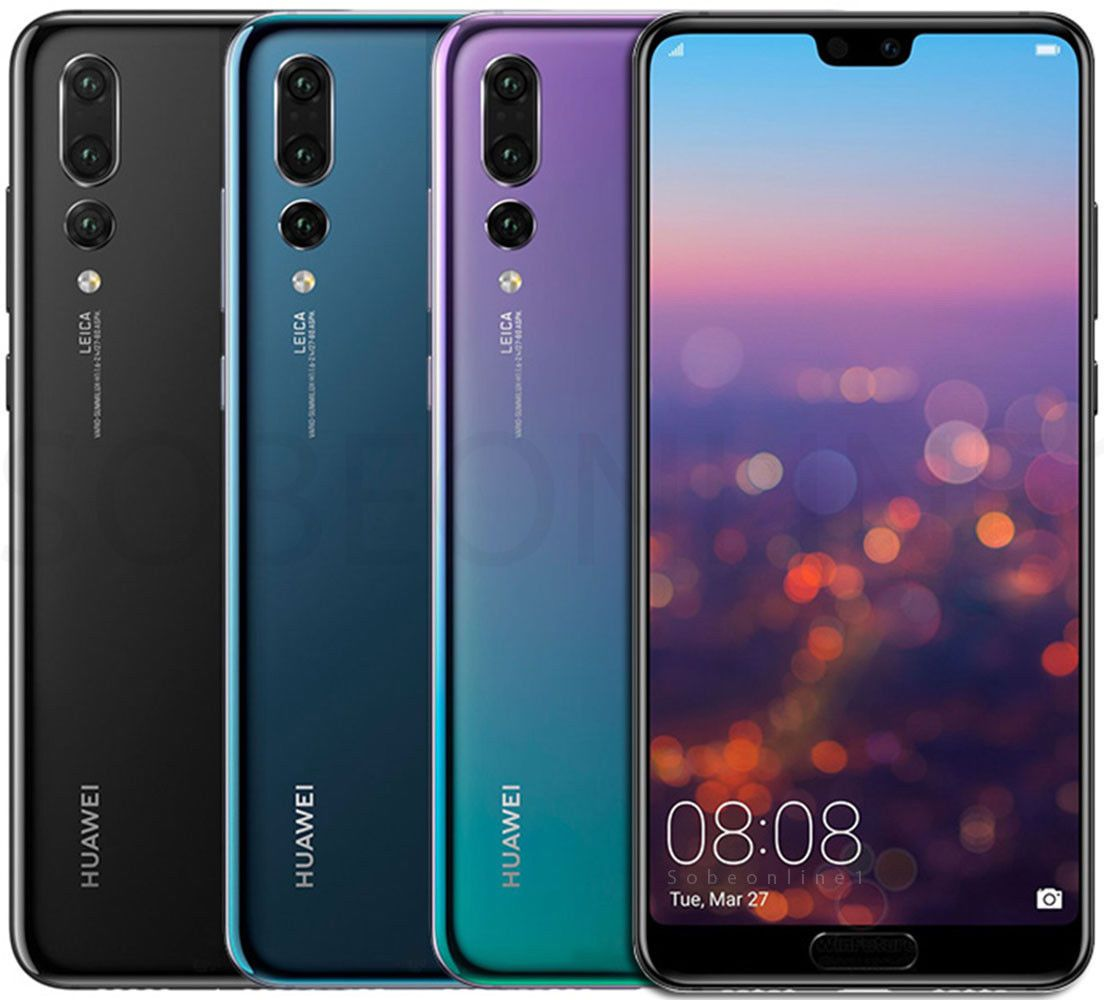 New Huawei P20 Pro 128gb 6gb Dual Sim Factory Unlocked 6 1 Black Blue Pink Ebay Huawei Best Android Phone Huawei Phones