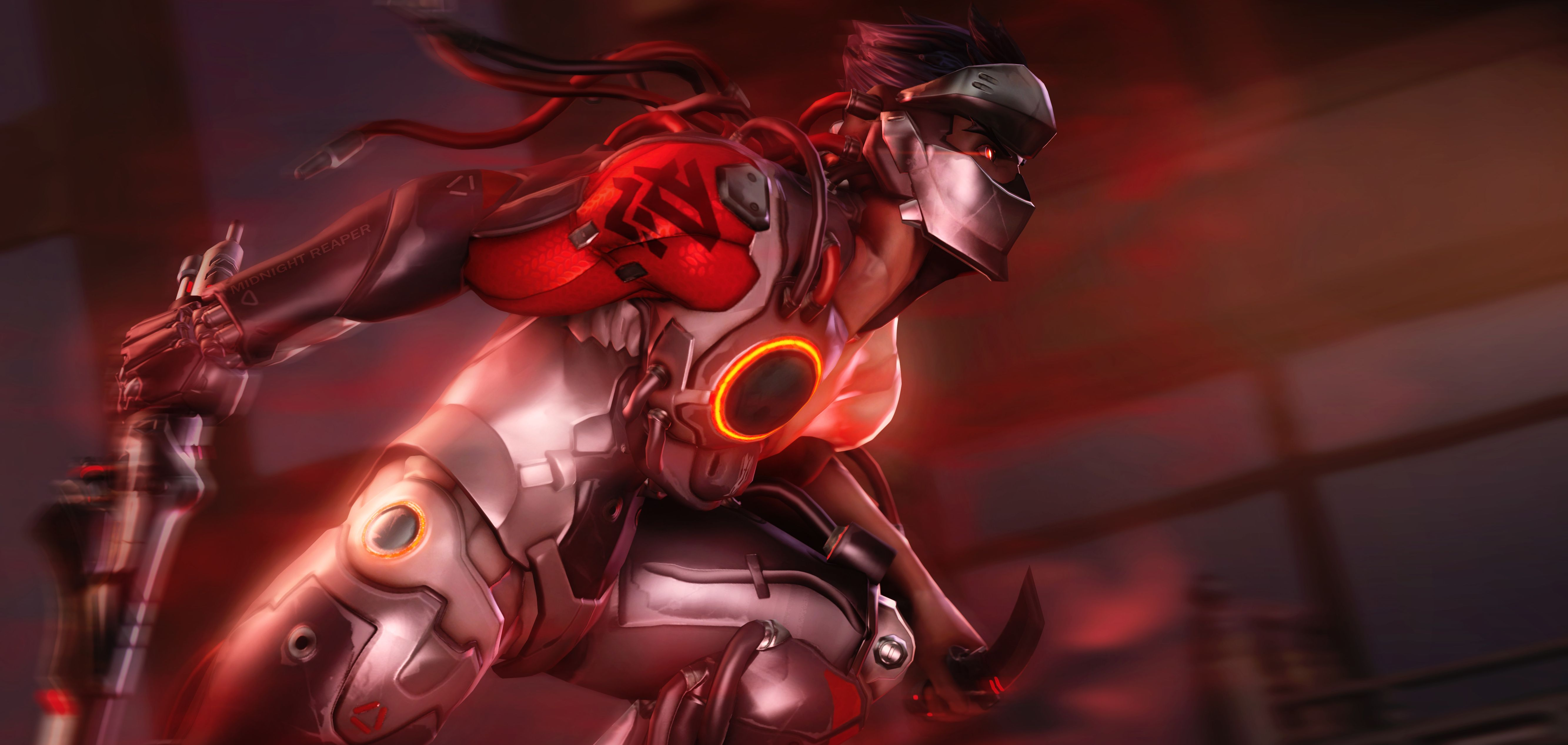 Ignited By Its Midnight Reaper Overwatch Wallpapers Genji Wallpaper Overwatch