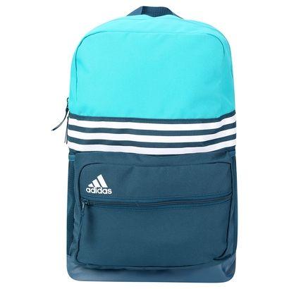 89e79c029 Com um visual incrível, a Mochila Adidas ASBP Azul Piscina e Branco mantém  tudo organizado