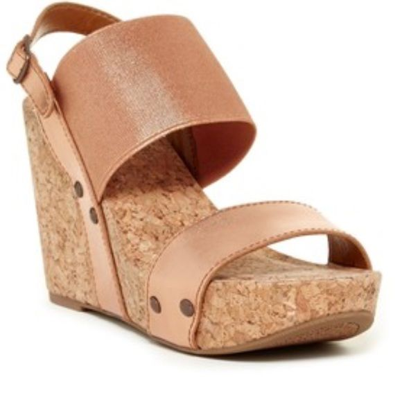 6ecd8c186ff Lucky Brand Rose Gold Wedge Sandals They have arrived! Brand new ...