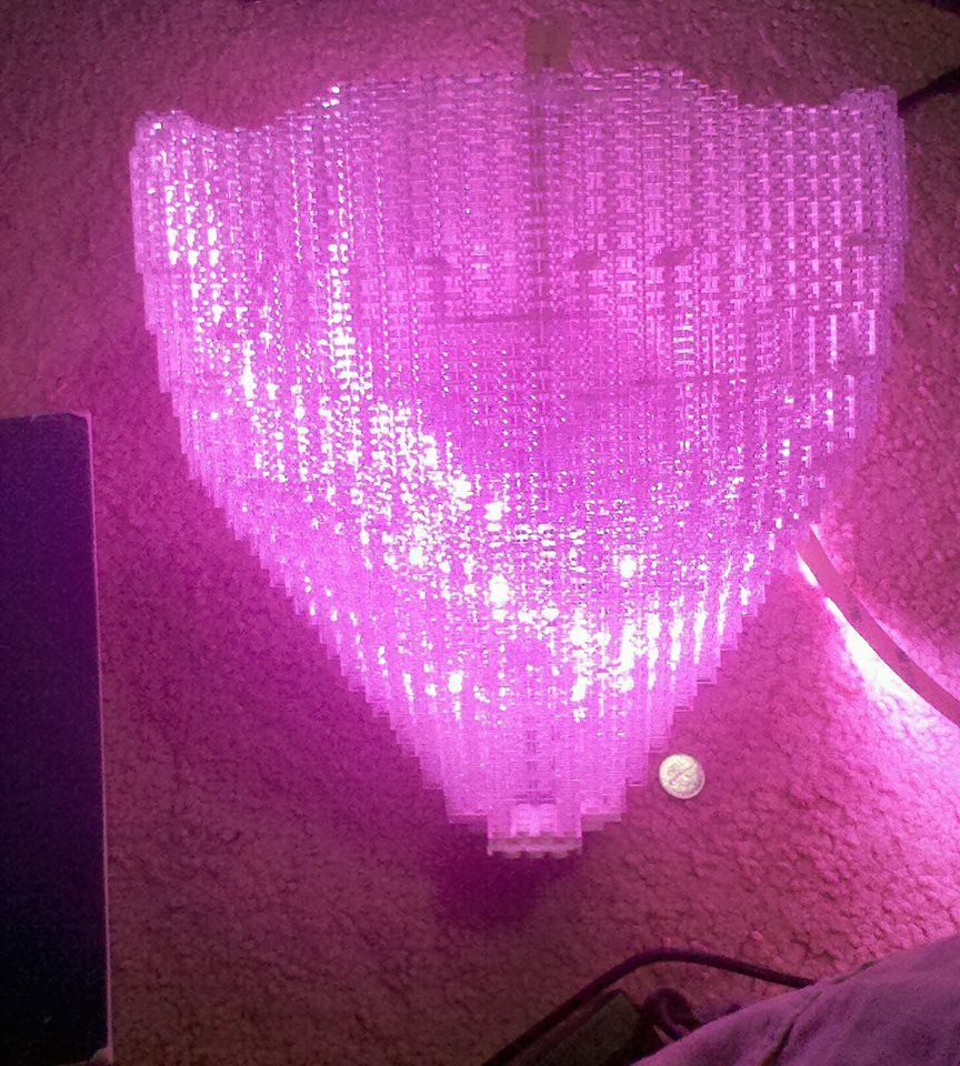valentines day getaway lego hot air ballon with color changing mood