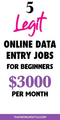 Best Data Entry Jobs To Make Money Online From Hom