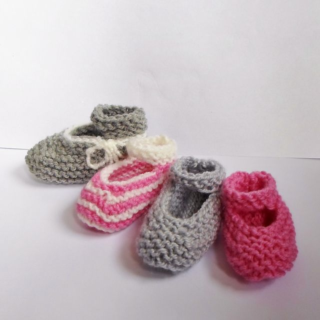 Ravelry: Easiest & Fastest Baby Mary Jane Booties! pattern by A la ...