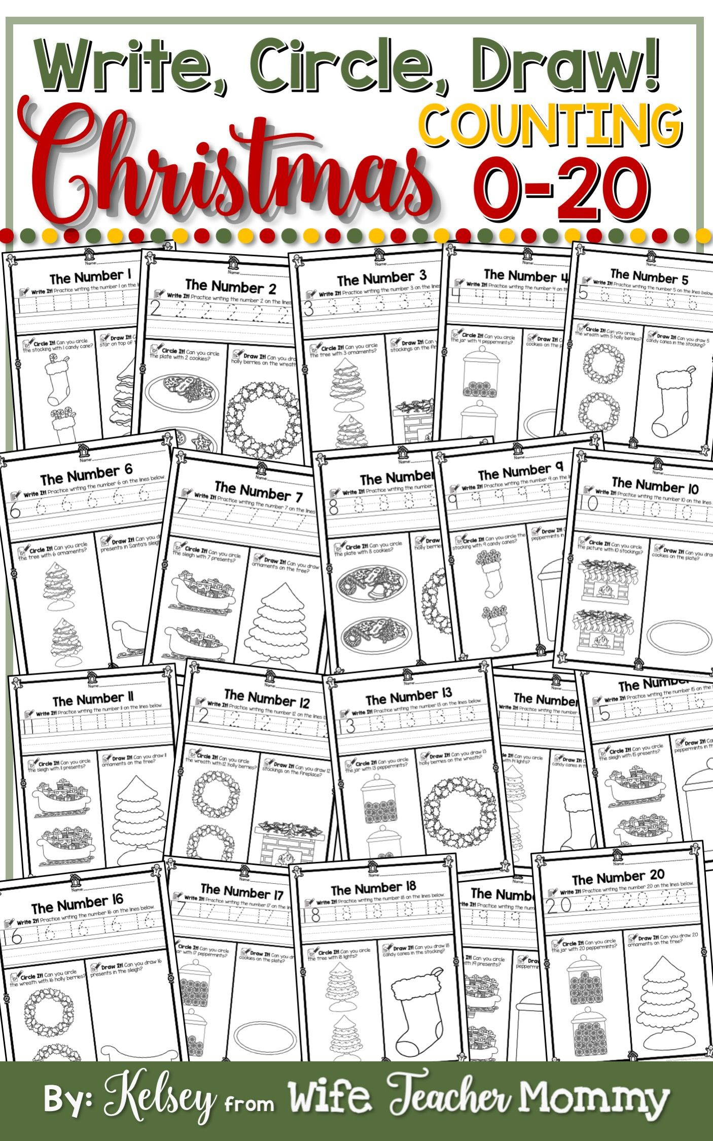 Christmas Number Worksheets 0-20 (Counting Worksheets ...