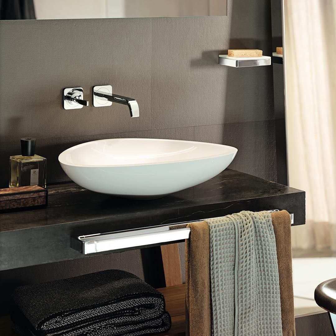 The masculine bathroom  #AXOR #AXORnordic #AntonioCitterio #design #interior #bathroom #bathroomdesign #designinterior