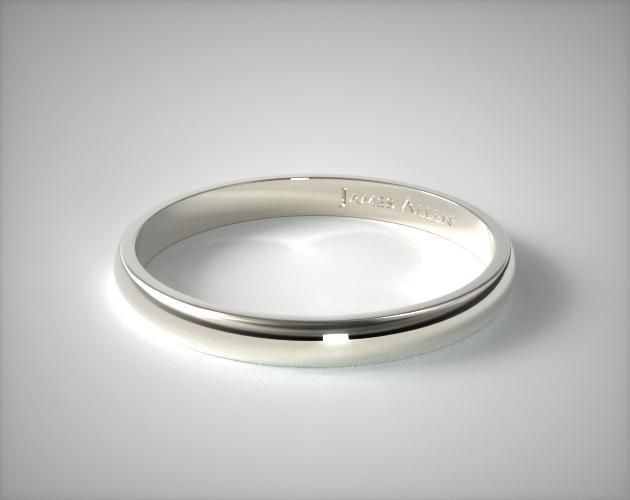 Platinum 3mm Traditional Slightly Curved Wedding Ring In 2020 Platinum Wedding Rings Mens Wedding Rings Platinum Comfort Fit Wedding Ring