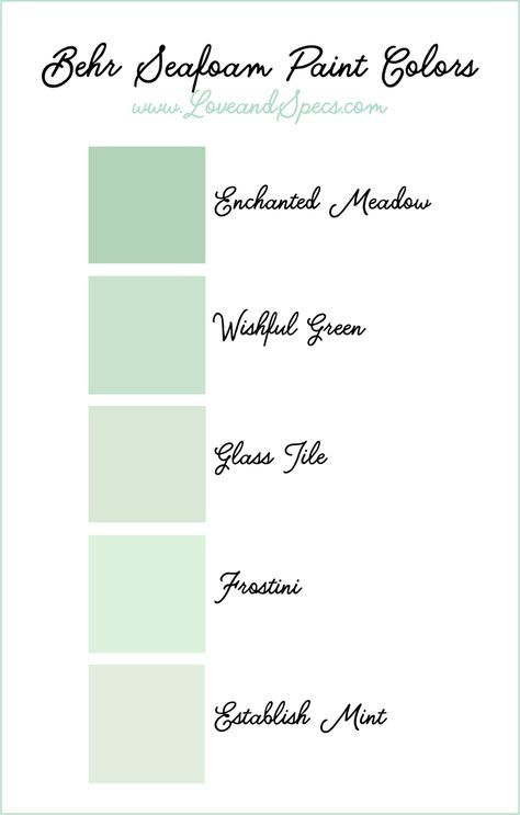 The Best Seafoam Paint Colors In A Range Of Minty Green Hues From Behr Is Perfect Accent Color To Pair With Neutral Palette