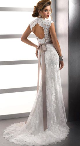Lace Wedding Dress Love The Cut Out Back And Bow
