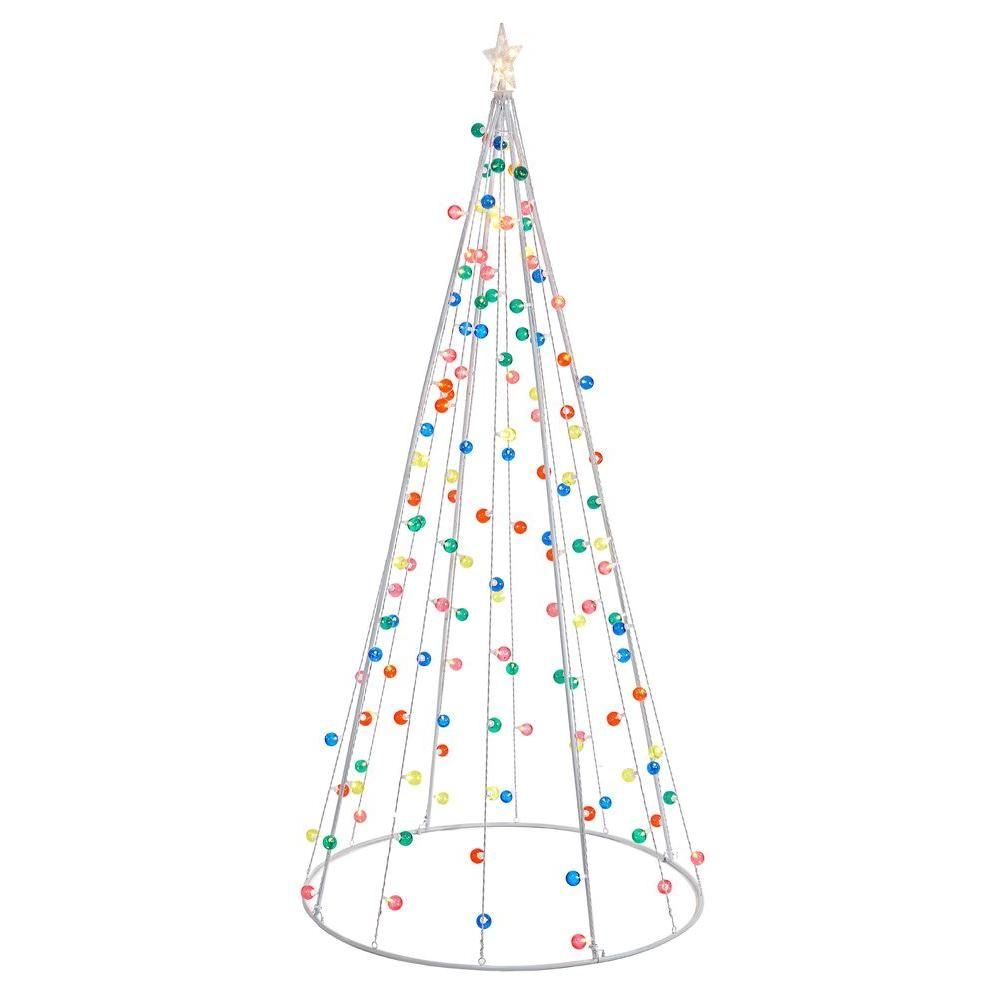 Home Accents Holiday 8 ft. Pre-Lit G40 Twinkling Cone Tree-TY082 ...