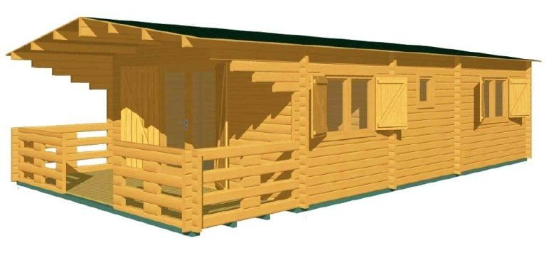 Photo of Prefabricated wooden bungalow model Typ-1 50sqm | Gardendeco