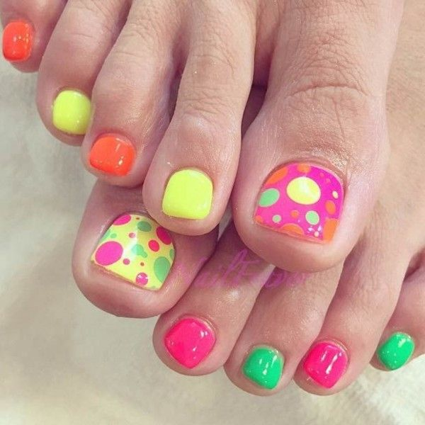 Funky Toe Nail Art 15 Cool Toe Nail Designs For Teenage Girls: 15 Diseños Cute Para Las Uñas De Los Dedos De Tus Pies