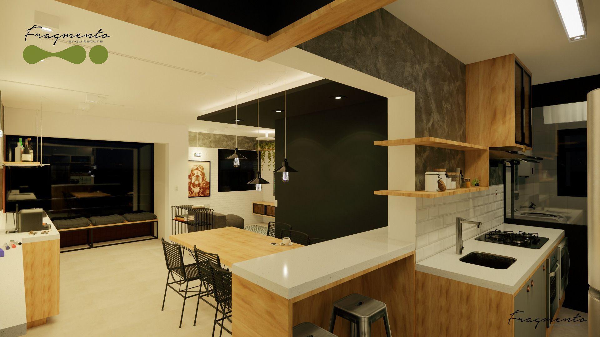 Photo of Cocina integrada por Fragmento Arquitetura