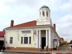 The old Standard Bank  building in Vrede