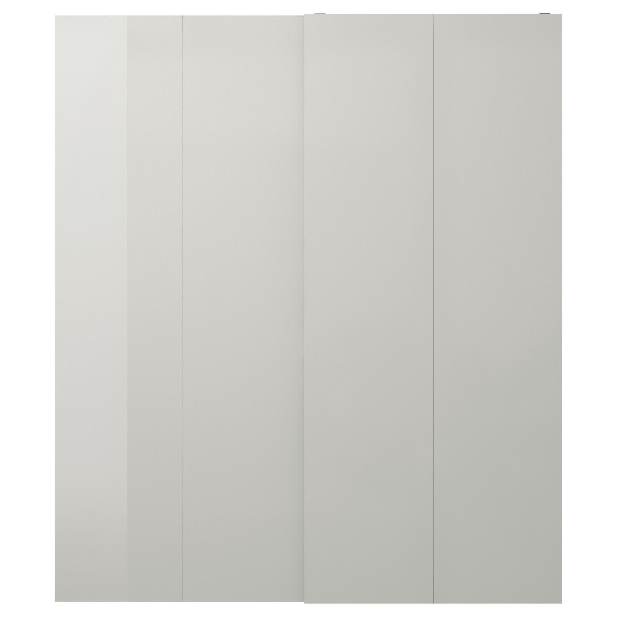 Light Hasvik Ikea High Grey Pair Cm Gloss Sliding Doors 200x236 Of JlK1cF