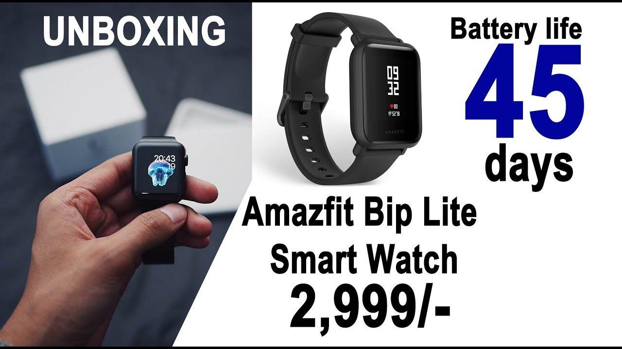 Smart Watch Amazfit BIP Lite Unboxing & Review Best