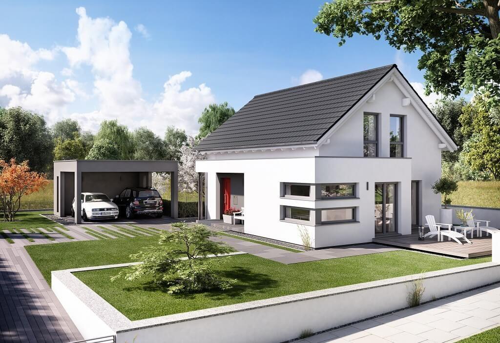 Moderne fassaden einfamilienhäuser satteldach  Edition 4 V4 - Bien Zenker - http://www.hausbaudirekt.de/haus ...