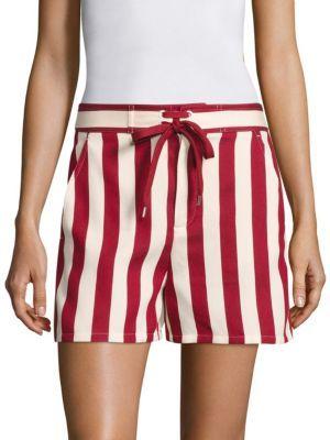 16ef0779feb5 RED VALENTINO Striped Board Shorts.  redvalentino  cloth  shorts ...