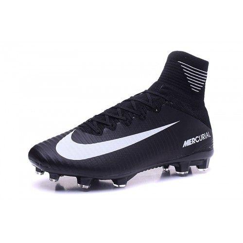 93d6b1886 Barato Nike Mercurial Superfly V FG Negro Botas De Futbol - Botas De fútbol  Nike Mercurial Baratas