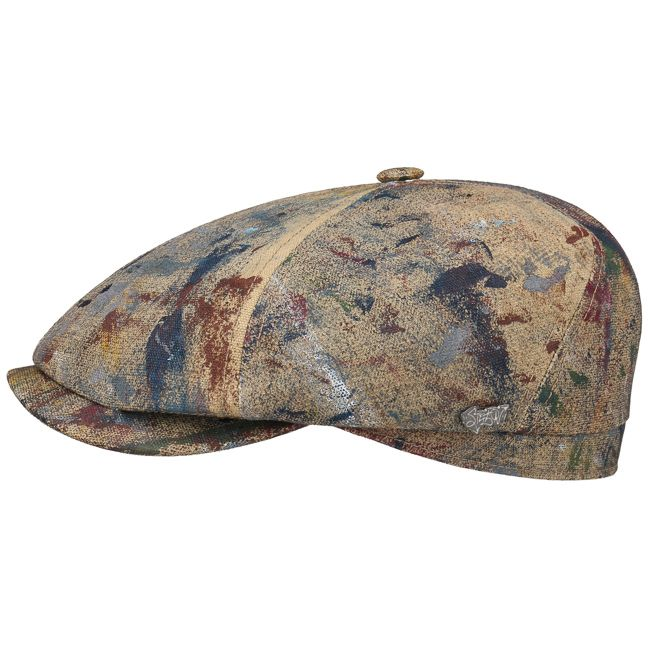 08e13c1423c Shop fashionable flat caps online. Trendy ivy hats. Splashes 6-Panel Flat  Cap