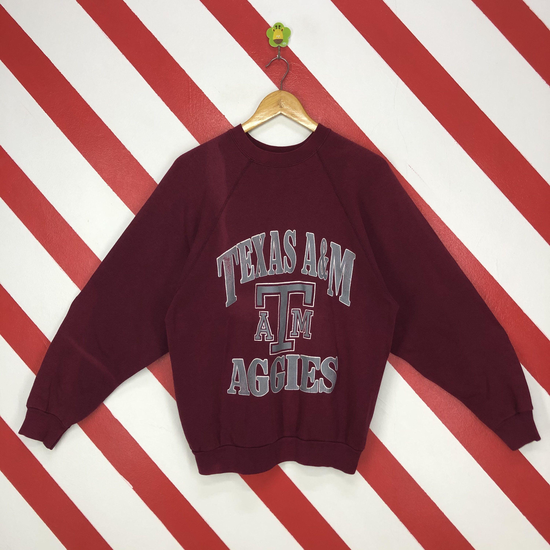 Vintage 90s Texas A M University Sweatshirt Texas Am Crewneck Etsy University Sweatshirts Print Logo Long Sleeve Tshirt Men [ 3000 x 3000 Pixel ]