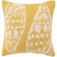 Double Seashell Yellow Hook Pillow
