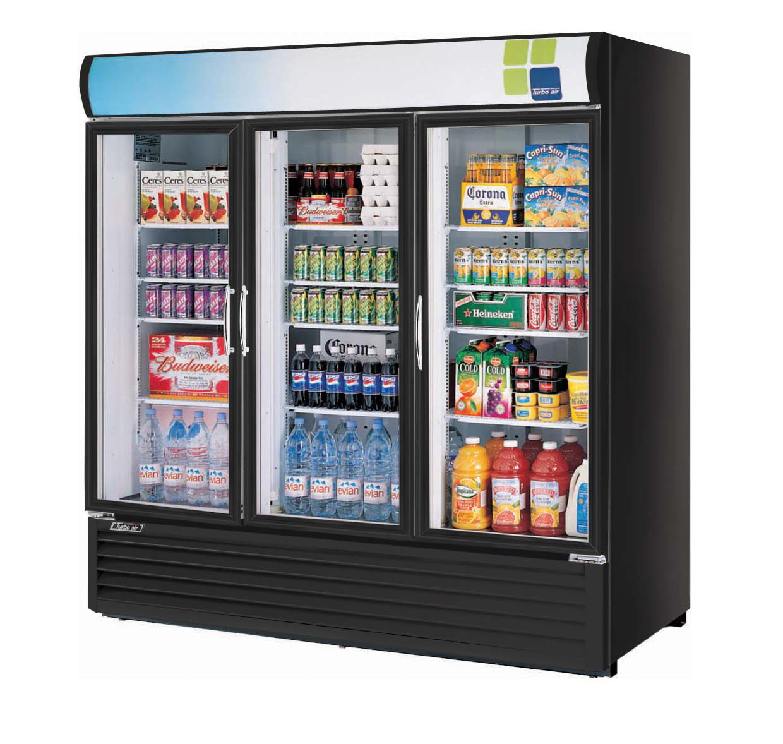 Refrigerator 72 cu ft 3 swing doors refrigerador 72 pies turbo air glass swing door three section merchandiser refrigerator planetlyrics Images