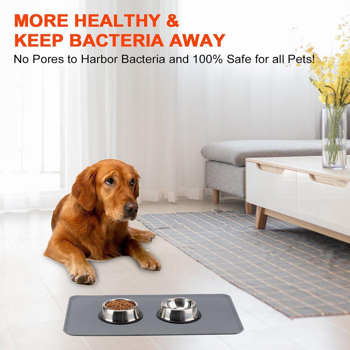 Hicobos dog feeding mat for food bowl fda silicone extra