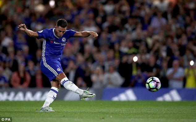 Chelsea 2 West Ham 1: Eden Hazard lets fly with an emphatic finish from the penalty spot to hand Chelsea the lead
