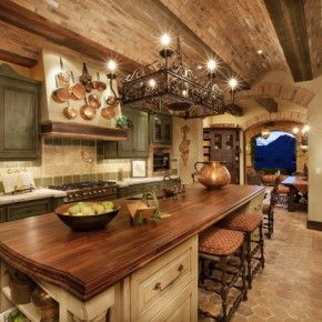 Love the color of the cupboards and island.