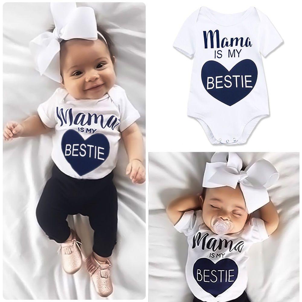 a7adcc395 Newborn Infant Baby Boys Girls Bodysuit Romper Jumpsuit Outfits ...