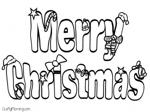 Free Printable Christmas Coloring Pages for Kids - Crafty Morning ...