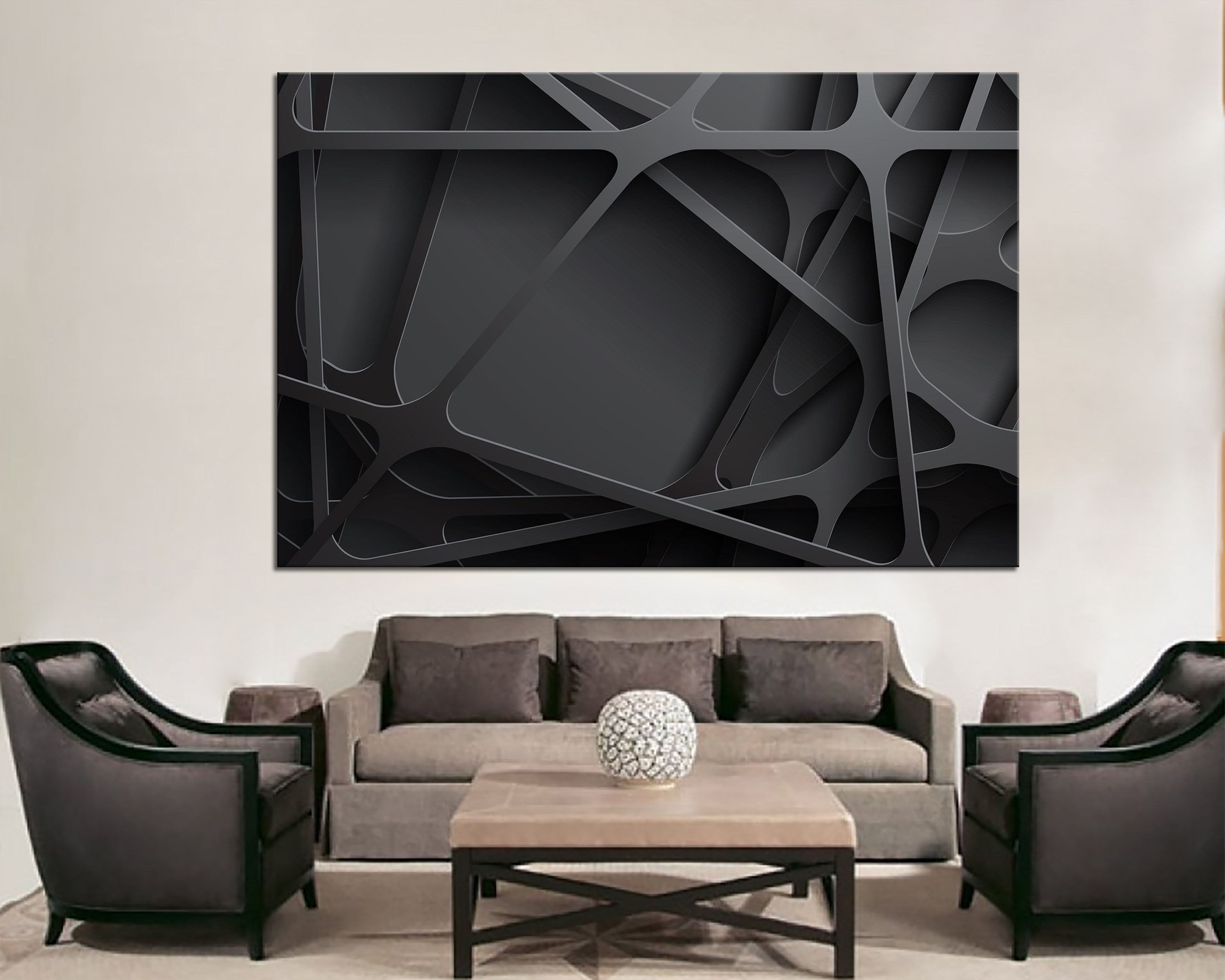 3d effect wall art black abstract wall decor abstract