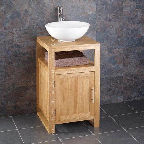 Clickbasin Cube Solid Oak 46cm Square Freestanding Vanity Unit And Arezzo Sink Http Www Co Uk Dp B00pjy3geo Ref
