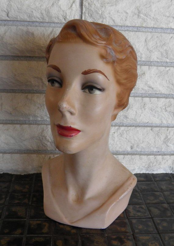 Sale Vintage French Millinery Head Mannequin Hat Display Etsy In 2020 Vintage Mannequin Mannequins Mannequin Art