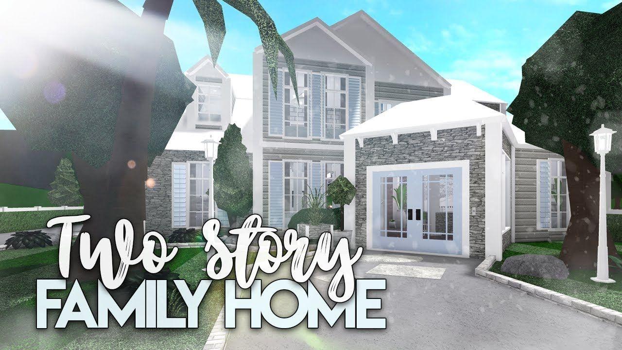 Roblox Bloxburg 2 Story Family House House Build In 2020 Modern House Floor Plans Family House Plans Two Story House Design
